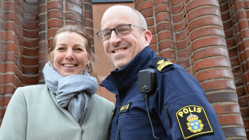 Säkerhetschef Emma Björk och kommunpolis Christer Stålhandske.