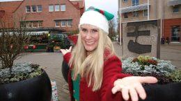 Levande jultimmar och Lucia på Torget med Linda Lundqvist. Foto Ivar Sjögren