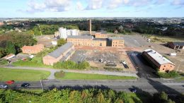 Framtidsidéer sökes för centrala delar av Sockerstan. Flygfoto: Avitech