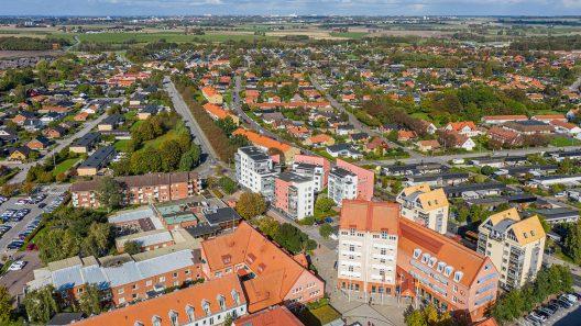 Flygfoto över Staffanstorp centrum