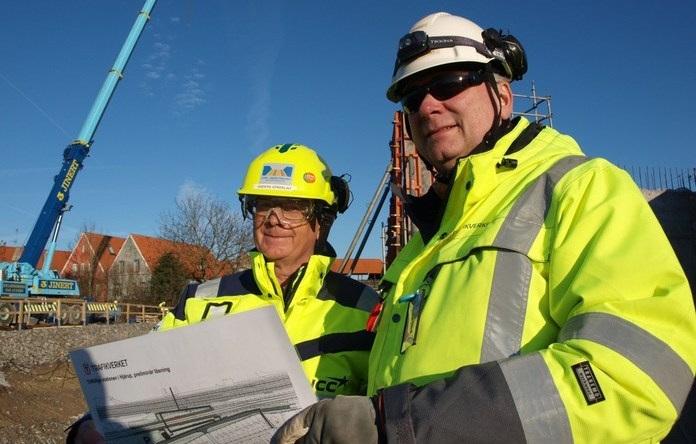 Projektledarna från Trafikverket och NCC/OHL. Foto Ivar Sjögren