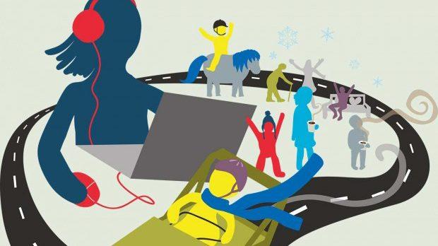Sportlovsaktiviteter. Illustration: Alva Esping