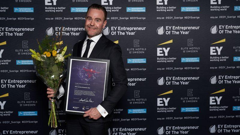 """Christian Jansson utsågs till """"Årets sociala entreprenör"""". Foto: EY"""