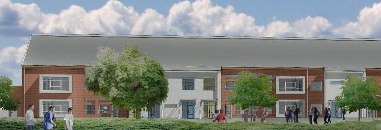 Bilden: Så här kommer Gullåkraskolan att se ut när den invigs om knappt två år. Illustration: Wigot konsult AB