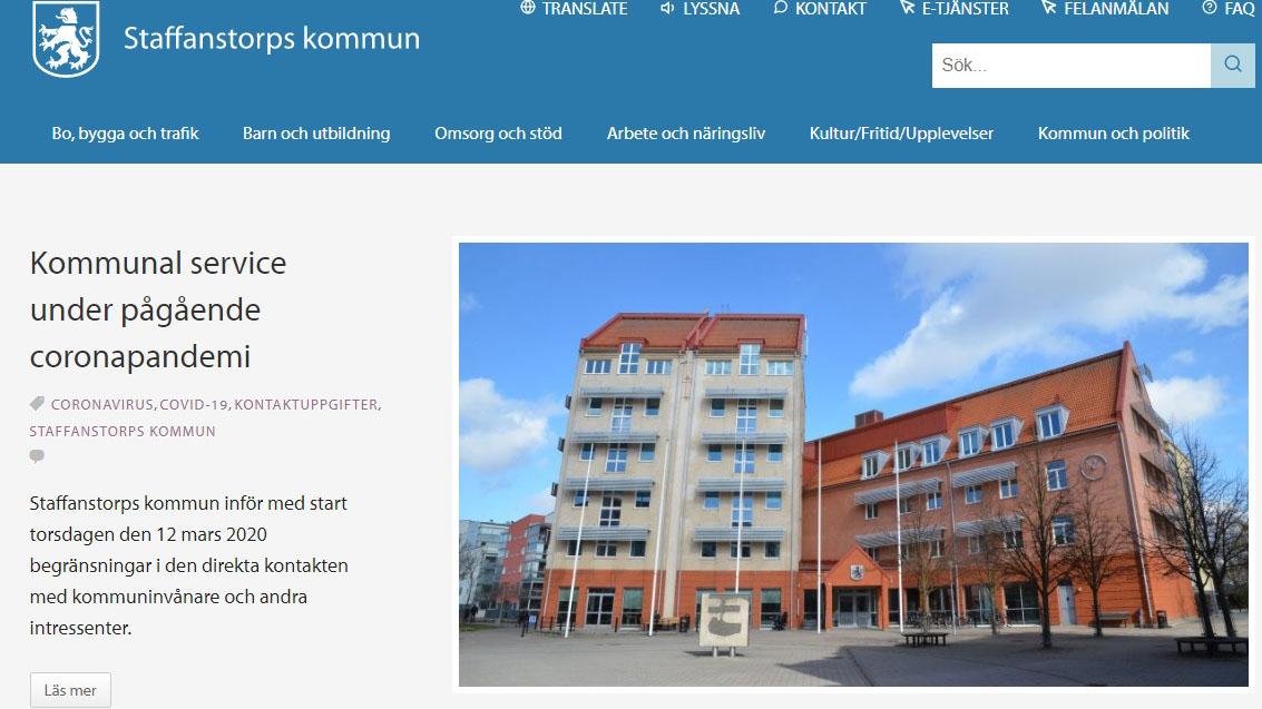 Om webbplatsen | Staffanstorps kommun