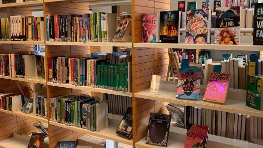 Böcker i bibliotek