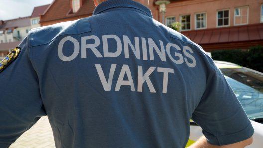Ordningsvakt. Foto: Andreas Holm.