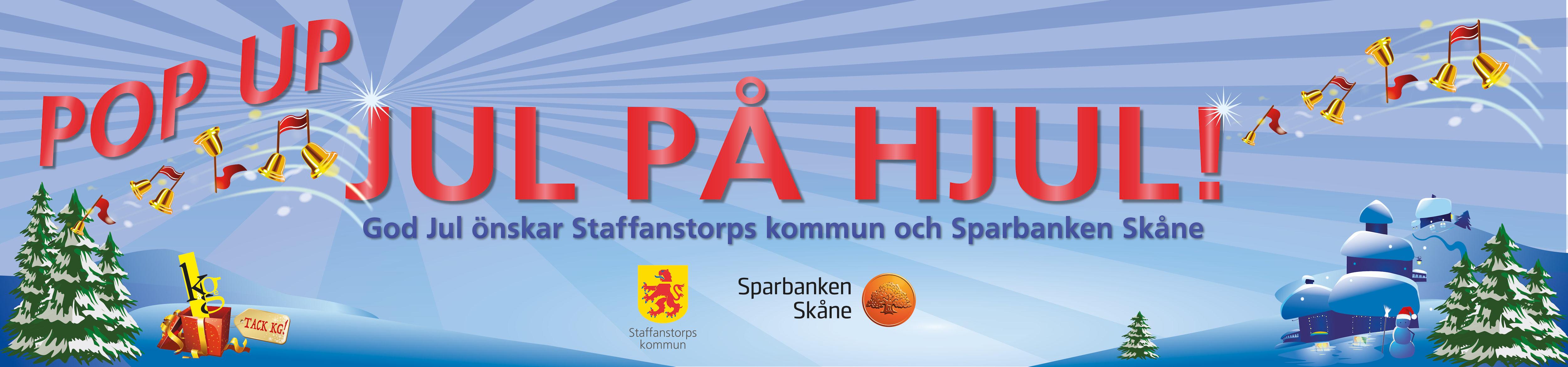 Banner för popup jul på hjul.