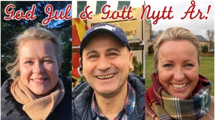 Annika Jalgén, Ali Mohammed och Karin Nilsson avslöjar hur de firar sin coronasäkra jul i år! Foto Ivar Sjögren