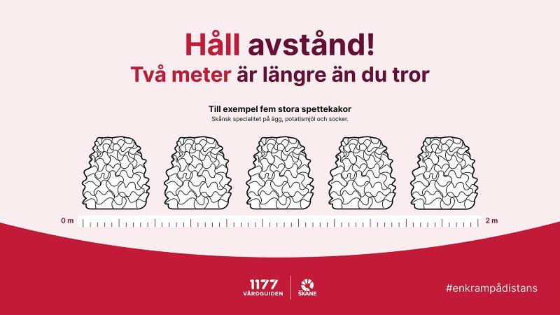 Håll avstånd-affisch från Region Skåne och 1177.