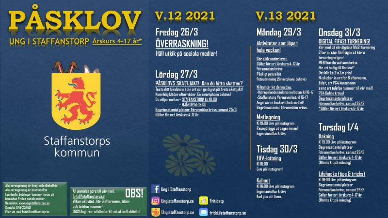Affisch om årets digitala påsklov.