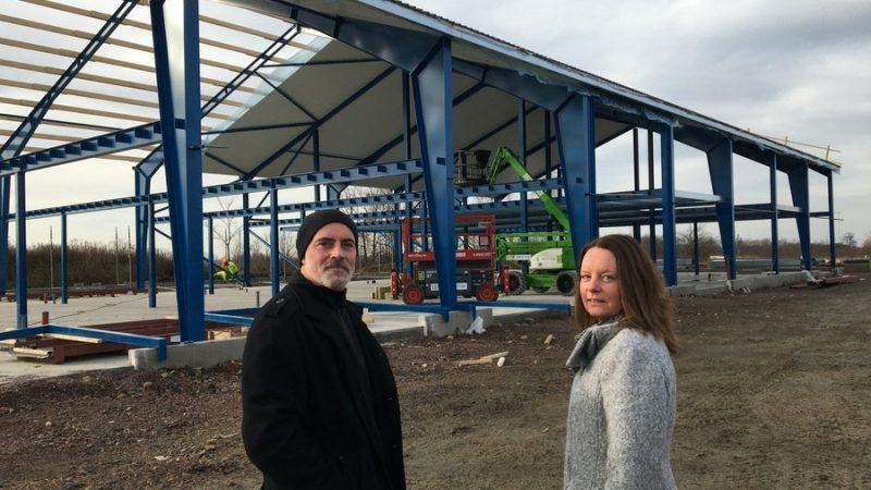 Bild av Städ & Kemtvätts nya byggnad.